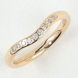 Tiffany & Co. 18K Rose Gold Diamond Curved Band Size 4