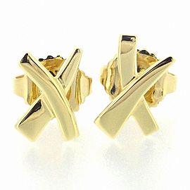 """Tiffany & Co. 18K Yellow Gold """"X"""" Earrings"""