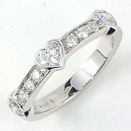 Bulgari 18K White Gold Diamond Ring Size 6