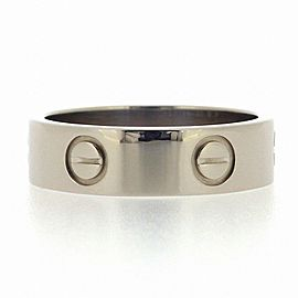 Cartier 18K White Gold Love Ring Size 7