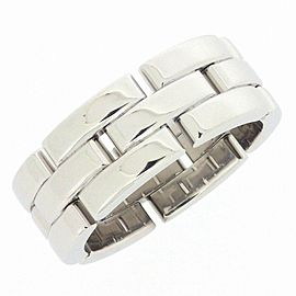 Cartier Maillon Panthere 18K White Gold Ring Size 7.25