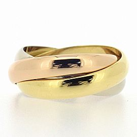 Cartier 18K 3-Color Gold Trinity Ring Size 6.5