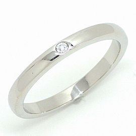 Tiffany & Co. Platinum Diamond Ring Size 6.5