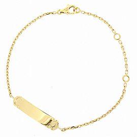 Cartier 18K Yellow Gold 2C ID Plate Bracelet