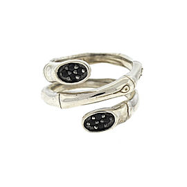 John Hardy Sterling Silver Bamboo Lava Double Twirl Ring
