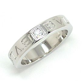 Bulgari 18K White Gold Diamond Ring Size 5.25