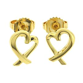 Tiffany & Co. Loving Heart 18K Yellow Gold Earrings