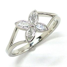 Tiffany & Co. Victoria Marquise Platinum Diamond Ring Size 5