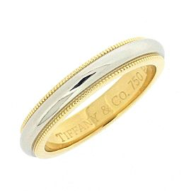Tiffany & Co. Milgrain 18K Yellow Gold, Platinum Ring Size 5