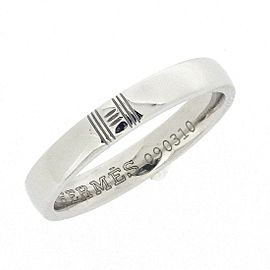 18K White Gold Ring Size 4.75