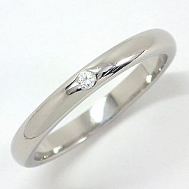 Tiffany & Co. Stacking Band Platinum Diamond Ring Size 8