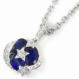 Chanel 18K White Gold Sapphire, Diamond Necklace