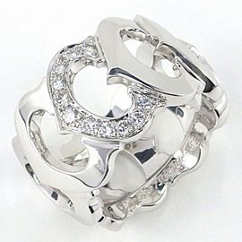 Cartier C de Cartier 18K White Gold Diamond Ring Size 6