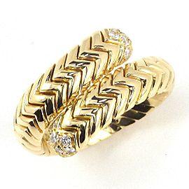Bulgari 18K Yellow Gold Diamond Ring Size 7