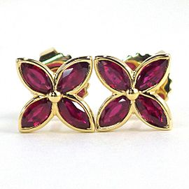 Tiffany & Co. Victoria 18K Yellow Gold Ruby Earrings
