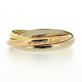 Cartier Trinity 18K Tri-Color Gold Ring Size 6.5