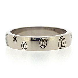 Cartier 18K WG Happy Birthday Ring Size 5.5