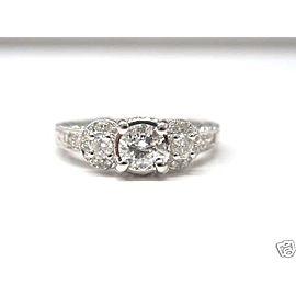 18K White Gold Diamond Ring Size 7.25