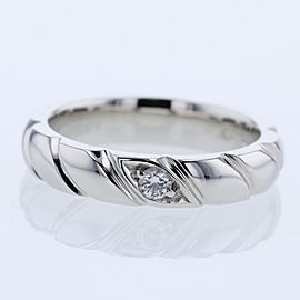 Chaumet Platinum Diamond Ring Size 3.75