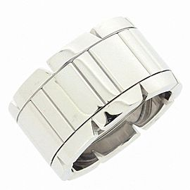 Cartier 18K WG Tank Francaise LM Ring Size 4.25