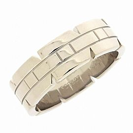 Cartier 18K WG Tank Francaise Ring Size 9