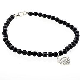 TIFFANY&Co. Sterling Silver Onyx Bracelet