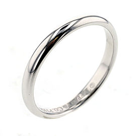 TIFFANY&Co. Stacking Platinum Ring Size 3.75