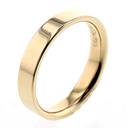 TIFFANY&Co.18K YG Flatband Ring Size 8