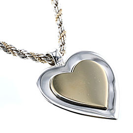 TIFFANY&Co. 18K Yellow Gold, Sterling Silver Heart Necklace