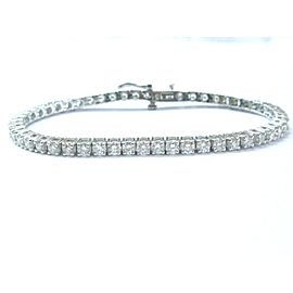 14K White Gold 5.02ctw Round Cut Diamond Tennis Bracelet