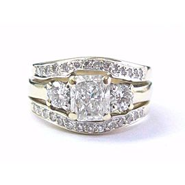 14K Yellow Gold Round Diamond Engagement Ring Size 5