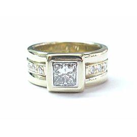 14K Yellow Gold Princess Cut Diamond Engagement Ring Size 6.5
