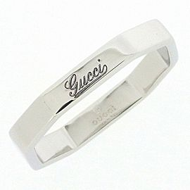 Gucci 18K White Gold Ring Size 5.5