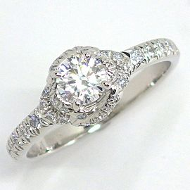 Chaumet Platinum Diamond Ring Size 4.75
