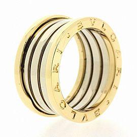Bulgari 18K White Gold Ring Size 7.25