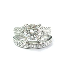 A Jaffe Platinum Diamond Engagement Ring Size: 5.75