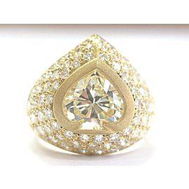 18K Yellow Gold Diamond Ring Size 6.5
