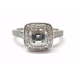 Tiffany & Co. Legacy Platinum Diamond Engagement Ring Size 4.25