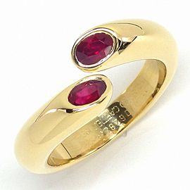 Cartier 18K Yellow Gold Ruby Ring Size 6.75