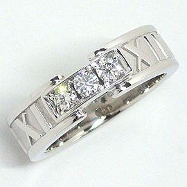 Tiffany & Co. 18K White Gold Diamond Ring Size 4.5