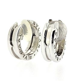 Bulgari 18K White Gold Earrings