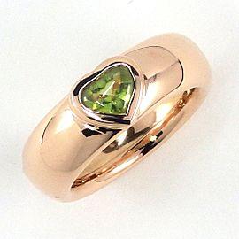 Tiffany & Co. 18K Rose Gold Peridot Ring Size 4.5