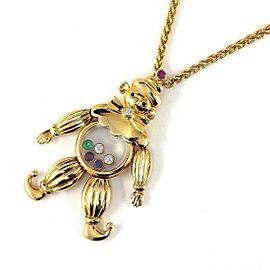 Chopard 18K Yellow Gold Diamond, Sapphire, Ruby, Emerald Necklace
