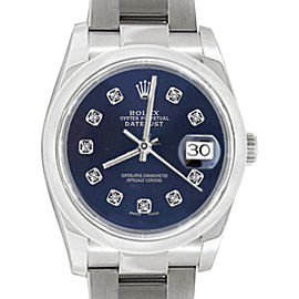 Rolex Oyster Perpetual Datejust 116200 36mm Mens Watch