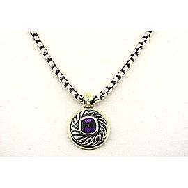 David Yurman Sterling Silver Amethyst Pendant