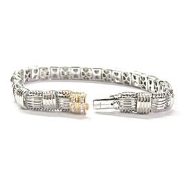 Roberto Coin Appassionata 18K White & Rose Gold Diamond Bracelet