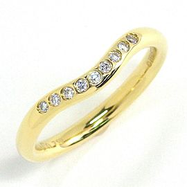 Tiffany & Co. 18K Yellow Gold Diamond Ring Size 4.25