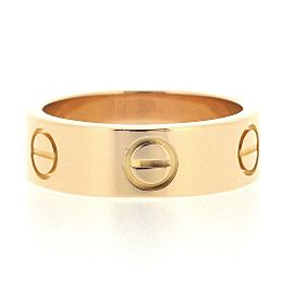 Cartier 18K RG Love Ring Size 4.75