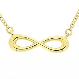 Tiffany & Co. 18K YG Infinity Necklace