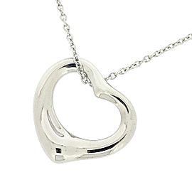 Tiffany & Co. Platinum Open Heart Necklace